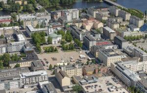 Ilmakuva Hämeenlinnan keskustasta