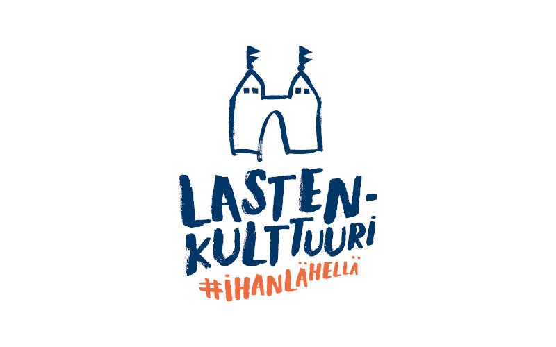 Piirretty Linna-logo, jonka alla teksti lastenkulttuuri ihan lähellä