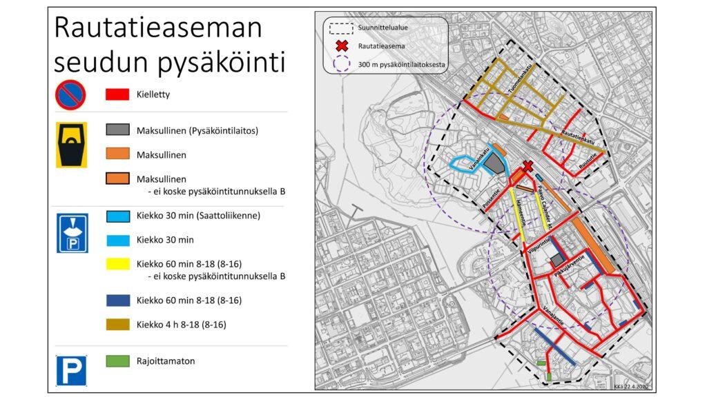 Asemanseudun pysäköinti kartalla