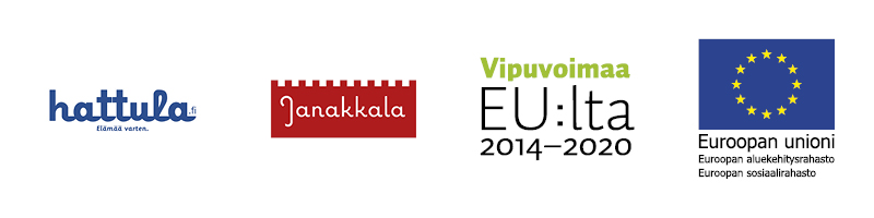 Teemme yhdessä- hankkeen logot: Hattula, Janakkala, Vipuvoimaa EU:lta ja ESR