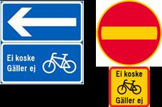 kaksisuuntainen pyöräily yksisuuntaisella kadulla merkit