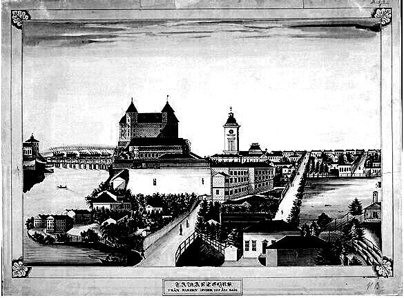 hiilipiirroskuva hämeenlinnan historiasta