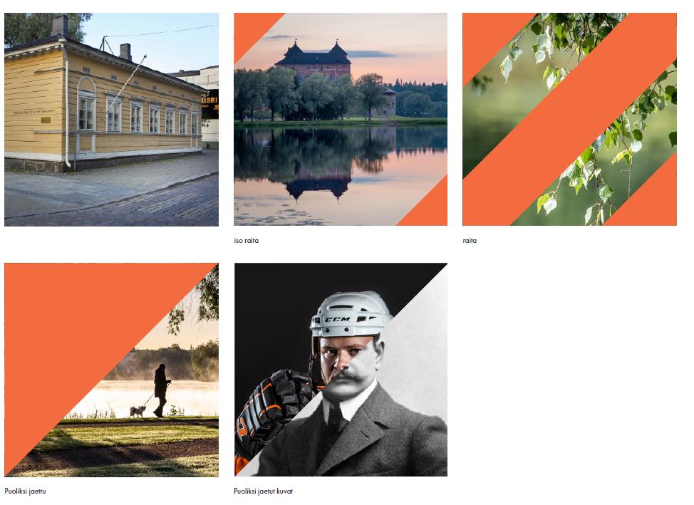käytettäessä Hämeenlinnan tunnistemuotoa valokuvissa on konsultoitava ensin kaupungin graafista suunnittelijaa