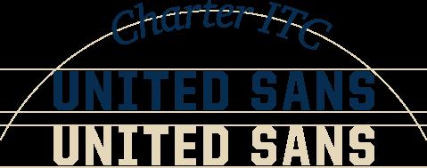 Hämeenlinnan fontit Charter ITC sekä United Sans