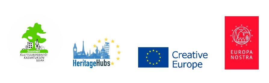 EuropaNostran ja HeritageHub hankkeiden logot