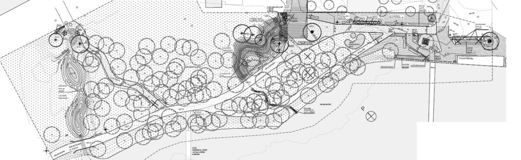 Mensanpuiston suunnitelma kartalla